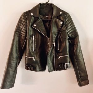 Leather Hand Painted Jacket